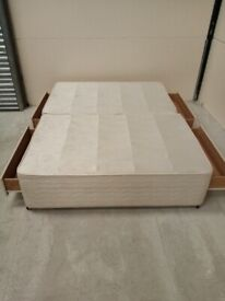 king size divan base with mattress(free delivery)