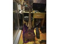 Lavender burst Ibanez RG series electric guitar