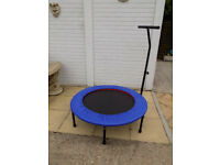 Mini Trampoline Jumper Rebounder 40 inch with stability handle - excellent condition