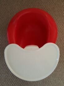 Immaculate Red Bumbo with Tray