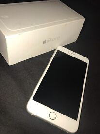 Unlocked Apple iPhone 6+ 64GB silver for sale with box £250