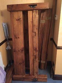 Handmade bespoke solid oak kingsize bed frame