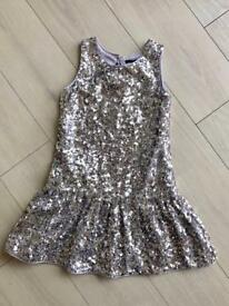 M&S SEQUIN PARTY DRESS 9-10 YEARS OLD