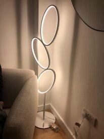 John Lewis Ovals LED Stacked Floor Lamp white
