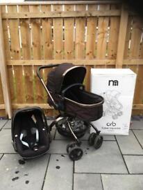 Mothercare pram/pushchair and Pebble car seat set
