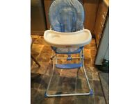Highchair in Pale Blue