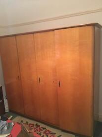 Heals Wardrobe Art Deco Mid Century modernist maple
