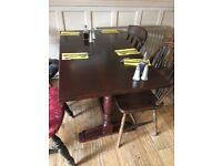 Wooden 4 Seater Restaurant Tables - Ref 5001