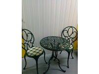 Bistro table with 2 chairs