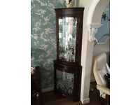 Two mahogany Display Corner Cabinets