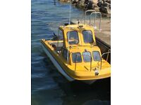 """Boat for sale, 17ft 6"""" Wilson flyer with 75 hp Yamaha 2 stroke"""