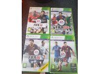 4 fifa x box 360 games