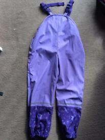 Girls waterproof trousers