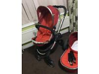 ICandy Peach Pushchair + Carrycot RRP 799!