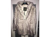 Brand New faux fur coat 12-14