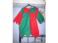 MANS CHRISTMAS ELF OUTFIT TOP ONLY SIZE L/XL WILL PUT HAT AND SHOES WITH IT