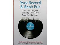 York Record & Book Fair, Saturday 23rd June (free admission)