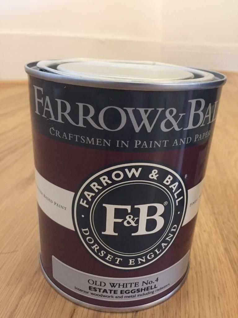 Farrow and Ball 750ml Old White Paint Bought for £24