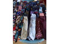 large tie collection joblot 90+ mens ties