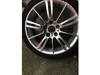 BMW alloy wheels with tyres