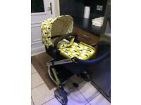 pram pushchair cosytoes rain cover basket bumper bar cosatto
