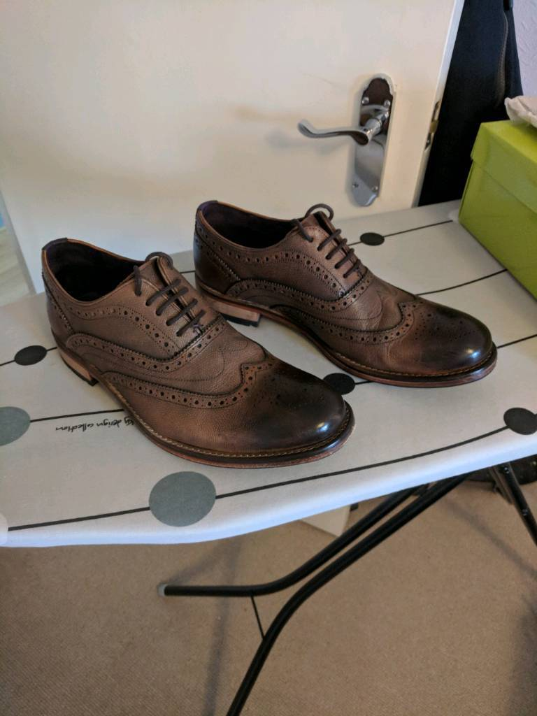 248c4568c Mens Ted Baker Guri 8 Brogue Tan Leather Shoes - RRP £140