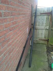 Water fed window cleaning pole 12m
