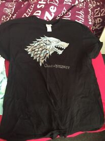 game of thrones t-shirts x2