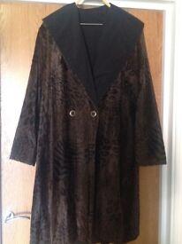 Ladies' coat, reversibe, size 14