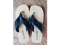 Skechers wedge sandals size 5, brand new