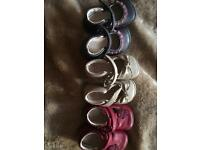 Size 2 clarke's girls shoes x3