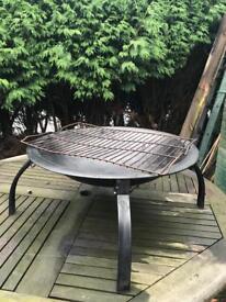 Putdoor firepit BBQ grill camping heater black round burner