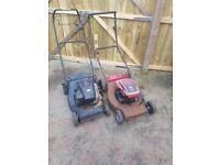 2 self drive lawnmowers