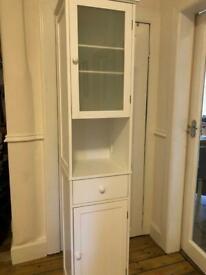 White Stockholm tall tallboy bathroom cabinet