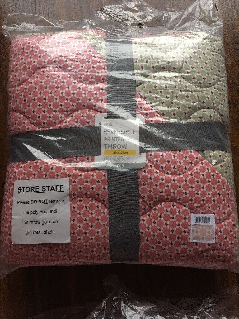 Brand New NEXT throw bedspread quilt blanket 150 x 200 cm