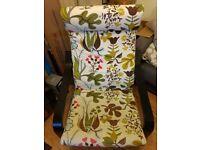 Ikea armchair with footstool, used