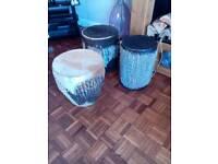 Bongo drums 3 of various