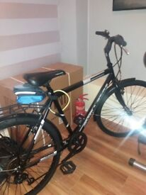 Gents bike exc cond. Hardly used would make great Christmas presy inc.in price bike carrier