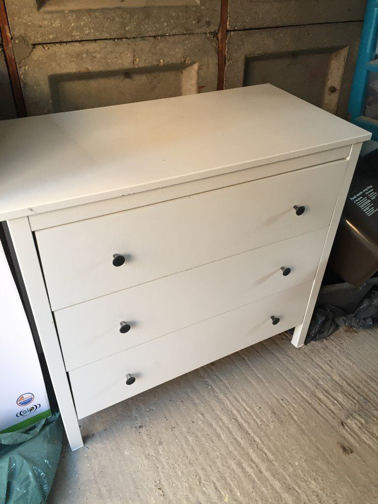 White Wooden Chest of Drawers (3)
