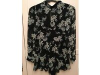 Topshop playsuit - size 8