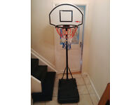 Portable basketball net