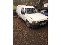 Mk4 escort van swap for mk1 fiesta classic ford xr3i rs turbo project