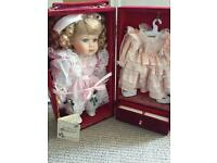 Very old house of Valentina doll with extras and velvet box