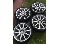 Alloy wheels with tyres 18 inch 4 stud multi fit