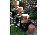 4 x 1930's Chimney cowls/pots