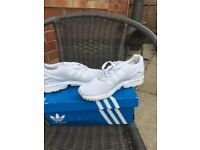 White Adidas trainers size 3.5. Worn once