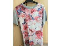 Size 12 floral tshirt dress