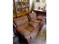 2 Leather Chairs : 1 x Electric Chair and 1 x Rocking Chair : Exellent Condition