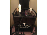 ST. Tropez spray tan booth and machine