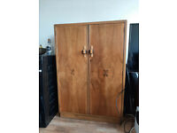 Vintage wardrobe and small table